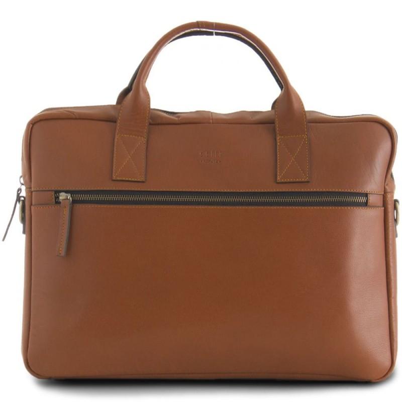0495df40df6 Still Nordic Leren Laptoptas 15 inch Clean Brief 1 Room Cognac