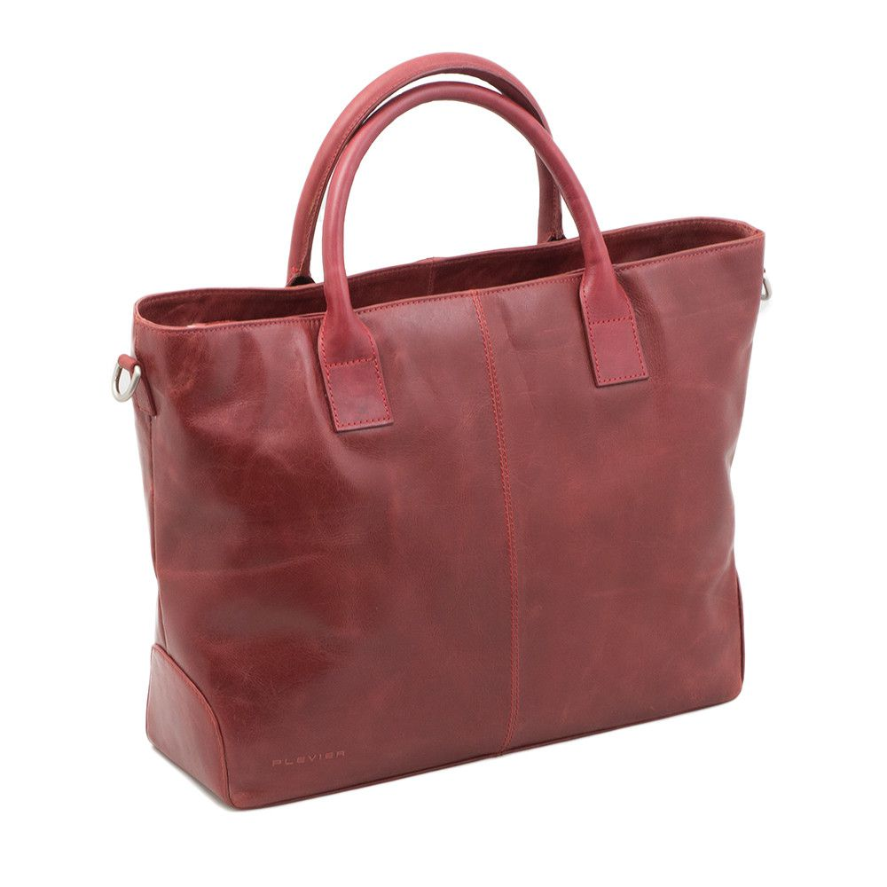 Macbook Tas Dames : Plevier leather dames business laptoptas vaks rood inch
