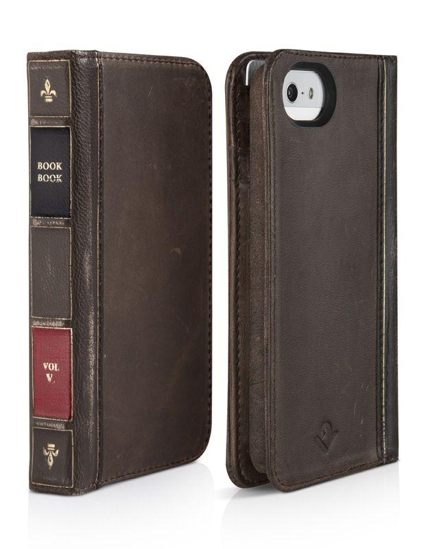 c71de899991 BookBook iPhone 5/5S/SE Case Wallet Twelve South Vintage Brown
