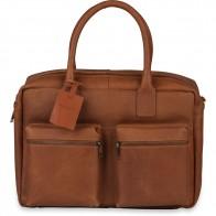 799b793f610 Burkely Leren Laptoptas 15 inch Fundamentals Vintage Alex Worker Cognac