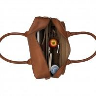 Burkely Leren Laptoptas 15 inch Fundamentals Vintage Alex Worker Cognac Open