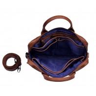 DSTRCT Fletcher Street Business Laptop Bag Cognac 11-13 inch Open