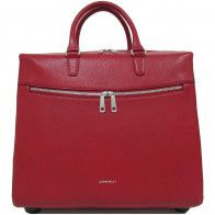 Gigi Fratelli Dames Leren Laptop Trolley 15.6 inch Romance Business ROM8015 Rood Voorkant