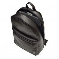 Knomo Albion Leather Laptop Backpack Black 15 inch Open