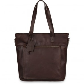Burkely Jade Vintage Shopper Dark Brown 13 inch
