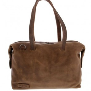 Plevier Dames Leren Laptoptas 14 inch Pure Caithness Taupe Voorkant