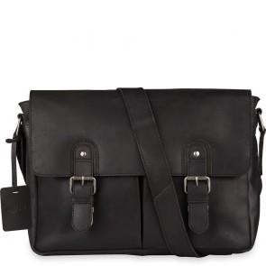 Burkely Glenn Vintage Shoulderbag Classic Black 14 inch