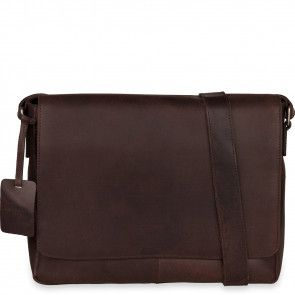 Burkely Juul Vintage Messenger Dark Brown 14 inch