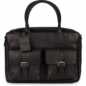 Burkely Finn Vintage Businessbag Classic Black 14 inch