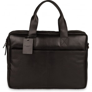 Burkely Jesse Vintage Shoulderbag Black 13 inch - Outlet