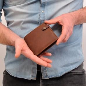 Berba Heren Leren Portemonnee Barbarossa 822-013 Coffee Model