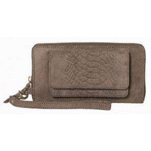 Burkely Anaconda portemonnee & iPhone wallet Taupe Voorkant