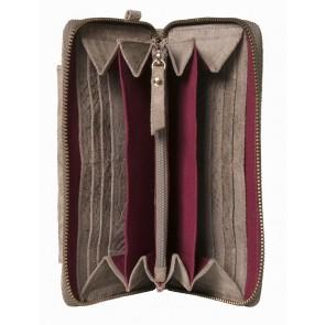 Burkely Anaconda portemonnee & iPhone wallet Taupe binnenkant