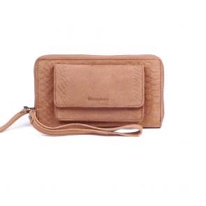 Burkely Anaconda portemonnee & iPhone wallet Camel Voorkant