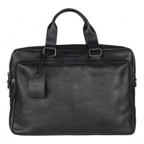Burkely Antique Avery Workbag Black 15.6 inch Voorkant