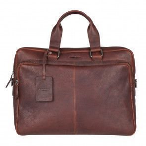 Burkely Antique Avery Workbag Brown 15.6 inch Voorkant