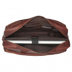 Burkely Antique Avery Workbag Brown 15.6 inch Open
