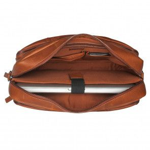 Burkely Antique Avery Workbag Cognac 15.6 inch Open