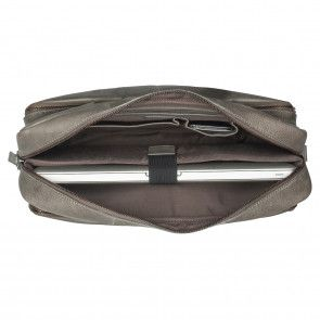 Burkely Antique Avery Workbag Grey 15.6 inch Open