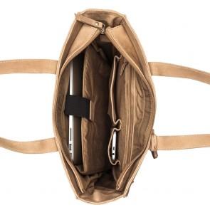 Burkely Braid Britt Shopper Zand 13.3 inch Open