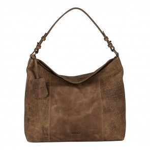 Burkely Croco Chloé Hobo Tundra Voorkant