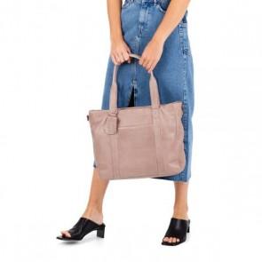 Burkely Dames Leren Laptoptas 14 inch Just Jackie Roze Model