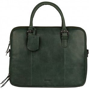 Burkely Dames Leren Laptoptas 14 inch Lois Lane Bottle Groen Voorkant
