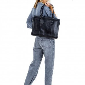 Burkely Leren Laptoptas Handbag 14 inch Suburb Seth Zwart Model
