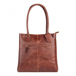 Burkely Eager Els Shopper 2-Zip Brandy Voorkant