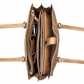 Burkely Flow Fem Shopper Zand 13.3 inch Open
