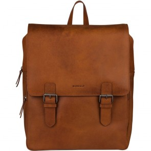 Burkely Leren Laptop Rugzak 14 inch On The Move Cognac Voorlkant