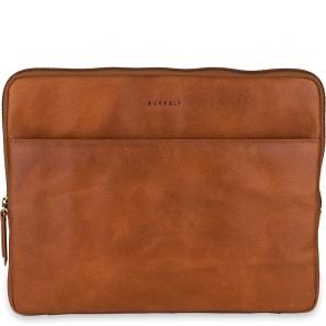 Burkely Leren Laptop Sleeve 13 inch Fundamentals Vintage Robin Cognac Voorkant