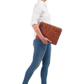 Burkely Leren Laptop Sleeve 13 inch Fundamentals Vintage Robin Cognac Model