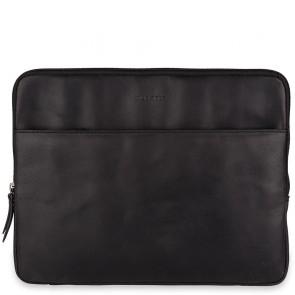 Burkely Leren Laptop Sleeve 13 inch Fundamentals Vintage Robin Zwart Voorkant