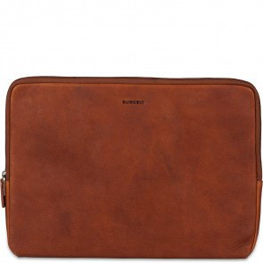 Burkely Leren Laptop Sleeve15.6 inch Antique Avery Cognac Voorkant