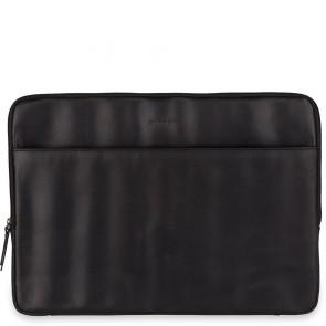 Burkely Leren Laptop Sleeve 15.6 inch Fundamentals Vintage Josh Zwart Voorkant