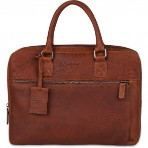 Burkely Leren Laptoptas 13.3 inch Antique Avery Cognac Voorkant