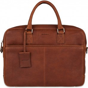 Burkely Antique Avery Laptoptas Cognac 15.6 inch Voorkant