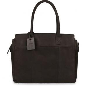 Burkely Doris Vintage Business Schoudertas Black 16 inch