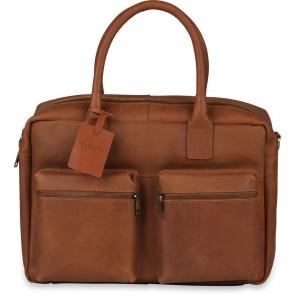 Burkely Leren Laptoptas 15 inch Fundamentals Vintage Alex Worker Cognac Voorkant