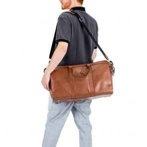 Burkely Leren Weekender Suburb Seth Cognac Model