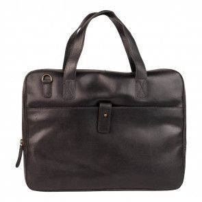 Burkely Vintage Businessbag Slim Black 14 inch Voorkant