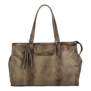Burkely Noble Nova Handbag M Khaki Voorkant