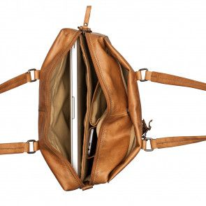 Burkely Noble Nova Laptopbag Cognac 13 inch Binnenkant