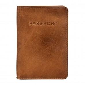 Burkely Noble Nova Passport Cover Cognac Voorkant