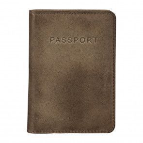 Burkely Noble Nova Passport Cover Kahki Voorkant