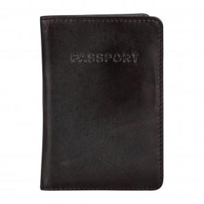 Burkely Noble Nova Passport Cover Zwart Voorkant