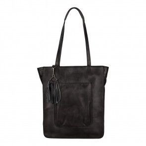Burkely Noble Nova Shopper Zwart 12 inch Voorkant