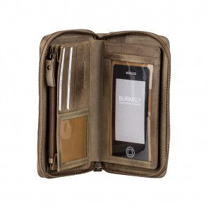 Burkely Noble Nova Travel Wallet Khaki Open