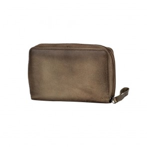 Burkely Noble Nova Travel Wallet Khaki Achterkant